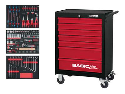 ks tools werkzeugwagen basic mit 7 schubladen. Black Bedroom Furniture Sets. Home Design Ideas