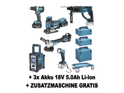 size 40 718c2 d4073 DLX6087TJ1 EXTRA MAKITA Akku-Spezialset mit 3x Akku 18V 5.0 ...